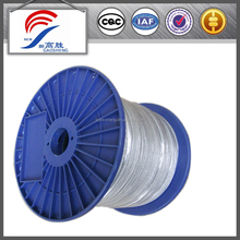 high tension wires, 7x19 non-rotating galvanized steel wire rope