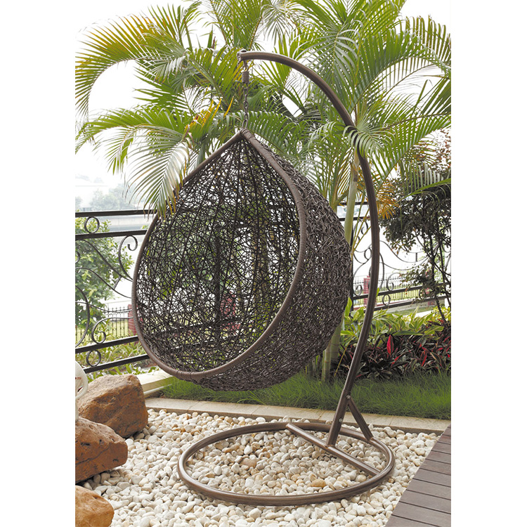 Professional Manufacturer Wholesale Patio Garden Rattan Hanging Egg Chair Cheap
