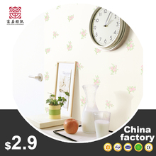 China Made fabric backed vinyl wallpaper floral 3d
