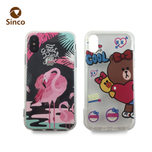 Hot sale soft tpu material with custom printing phone case blank sublimation phone case for iphone x