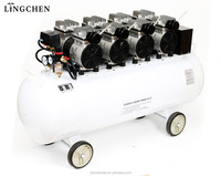 China High quality dental products oilless silent good price dental air compressor with wheel