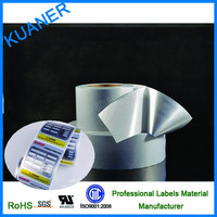 Matte silver pet raw material for labels material