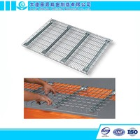 Welded Stacking Shelves Portable Storage Metallic Wire Decking