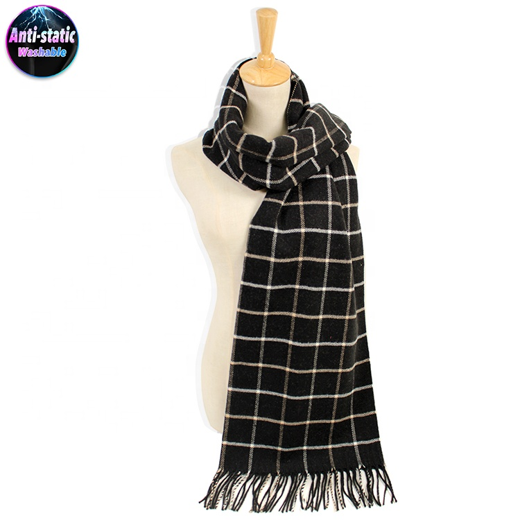 Dilly Fashion Women Soft Cashmere Blanket Scarf Solid Color Warm Winter Shawl Scarf