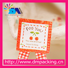 Red Cherry For You Kraft Paper Sticker Label Seal Box Envelope Gift Wrapping Soap Baking Wedding Christmas Decoration
