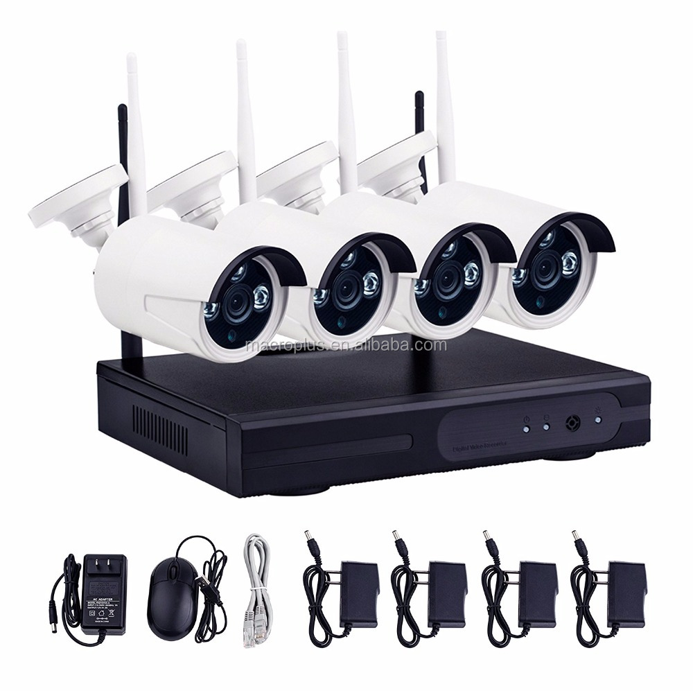 HD new 720P 4 channel wireless nvr kits for security home