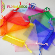 customized colorful small sheer organza pouch