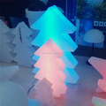 Recharging PE rotomolding plastic led illuminated decorating LED christmas tree,led light changing color tree