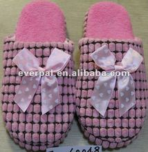 pink indoor winter home warm slippers 2013 fashion design