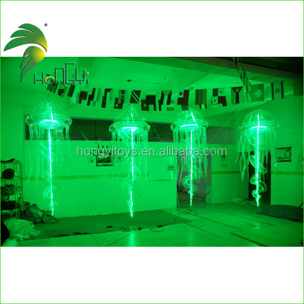 LED Lighting Up Customized Jellyfish Shaped Balloon, Hanging Jellyfish Decorations Inflatable