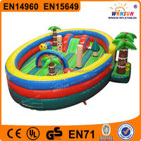 Inflatable bounce round Looney tunes bounce castle
