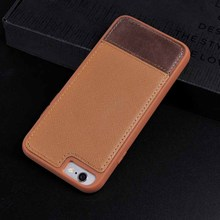 For iPhone 6 iPhone 6S Genuine Leather Ultra-Slim Splicing Pattern Cover Case