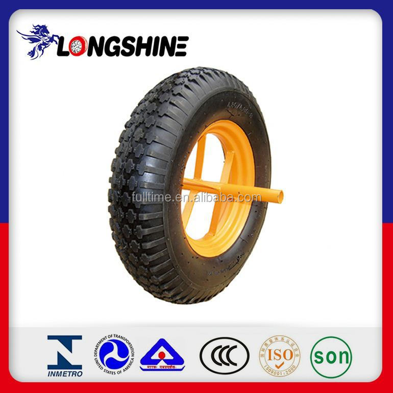 8 Inch Semi-Pneumatic Rubber Wheels For Tool Carts Hot