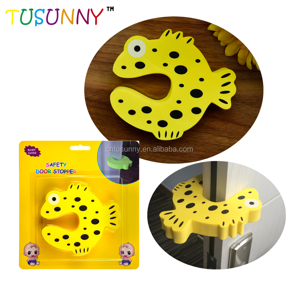 baby child safety finger pinch guard cute animal shape EVA door stoppers