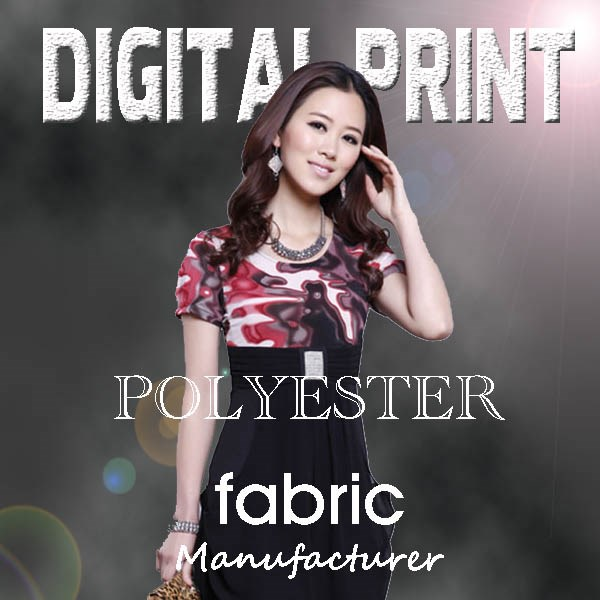 Wholesale Digital print polyester CDC fabric for dress -M