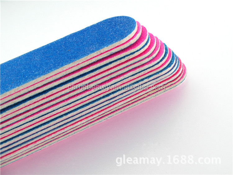 Wholesale Eva Nail File Custom Printed Disposable Nail File Emery Board Paper File