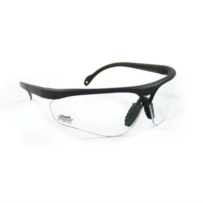 maxill Frames - Black With Clear Lenses