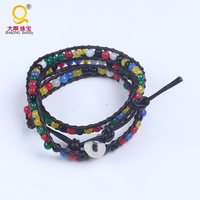 Hotsale Agate Bracelet Color Braided Leather