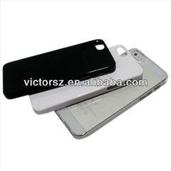 for apple iphone 5 crystal hard plastic case,clear white black