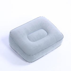 High Quality custom logo printing inflatable pvc flocking leg rest pillow