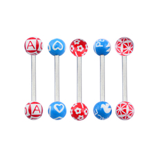 New design! Latest trendy two balls unique fake tongue ring