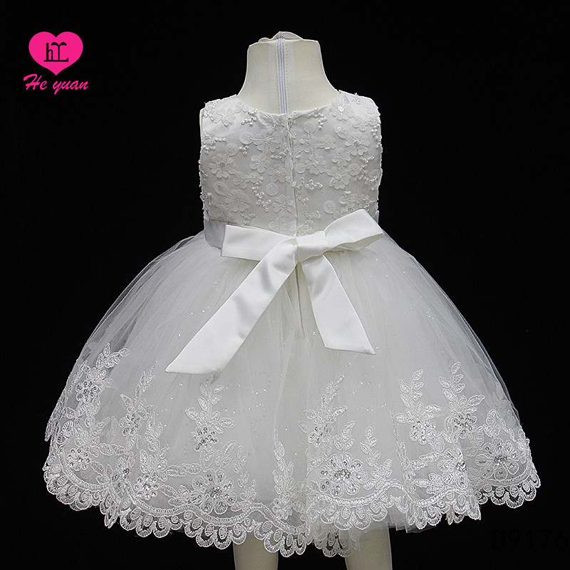 D9176Elegant Girls Kids Lace up Back Wedding Bridesmaid Pageant Party Flower Girl Dresses