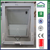 Australia Standard Double glazed Tempered glass Windows with Blinds Inside, Handcrank Awning Windows