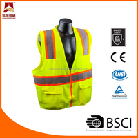ANSI/CSA certification knitted fabric reflective working safety vest