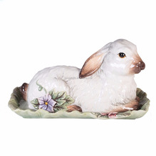 Individual Ceramic Rabbit Covered Butter Dishes