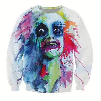 3D Print Halloween Style Pattern Autumn Thin Hoody Pullovers Sweatshirts