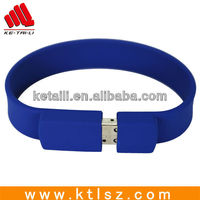 High quality custom silicone USB wristband China supplier