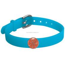 Sports Basketball Ball Adjustable Silicone Bracelet