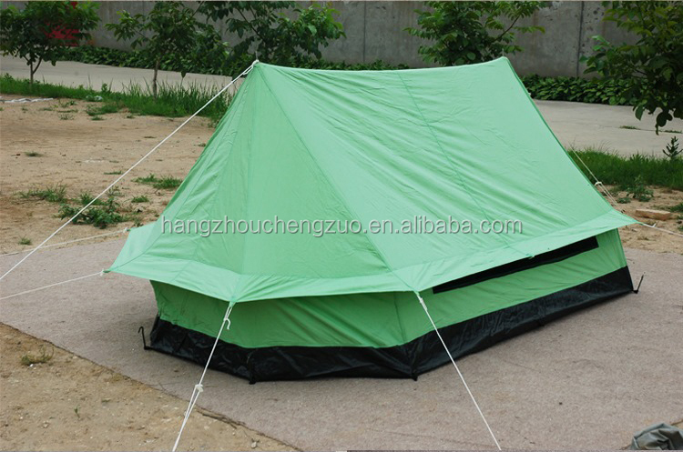 Hot Selling cotton canvas 2-3 Person Waterproof Camping Tent, CZX-104 Ripstop Camping Tent,A Character Type Hiking Tent