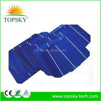 A grade silicon wafer high efficiency 125*125 mono crystalline solar cells for DIY solar panel kit busbar/tabbing wire