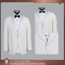 Bespoke made White wedding suit for men 2016