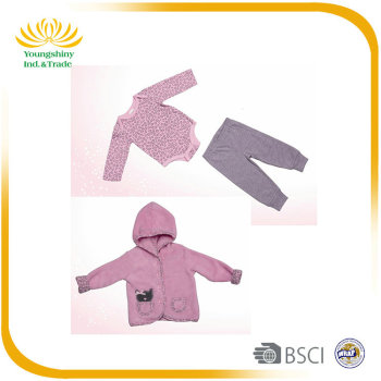 High quality 3pcs custom warm winter baby clothes