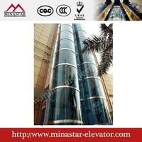 6 person glass panoramic passenger elevator for price in China