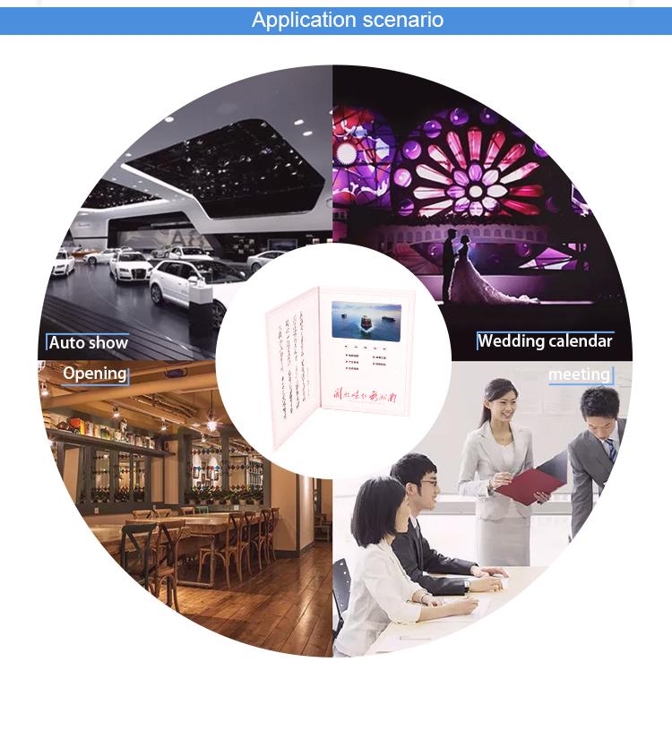Fábrica Diretamente personalizado cartão de impressão de vídeo promocional brochura do casamento mais novo convite