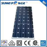 1000v portable solar cell system Promotion high efficiency 125W