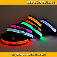 50pcs Adjustable LED Dog Collar Glow Flashing Light Up Pet Necklace Nylon Luminous Safety Collar Size S M L Drop ship DC-2501