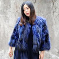 CX-G-A-239 New Arrival Fashion Women Raccoon Fur Coats And Jackets Woman