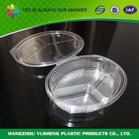Wholesale disposable food use food container 3 compartment microwave