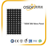 high efficiency mono 185W 36V solar module