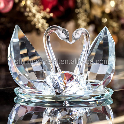 Nice crystal swan model,crystal glass swan model