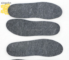 China fur factory wholesale wool felt insole and comfortable felt insole in 100% wool