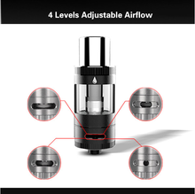 new rebuildable stainelss bottom coil tank 4 levels airflow control atomizer with huge vapor