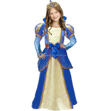 Beauty Princess Shimmer Golden Belle Childs Costume Fancy Dress For Girl Kids