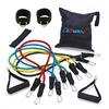 Resistance exercise bands set perfect home gym kit