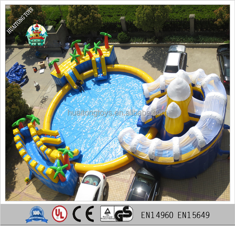 giant inflatable pool slide for adult, inflatable stair slide toys