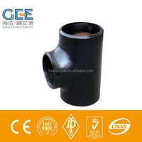 pipe fittings butt welded tee, a234 wpb pipe fittings tee